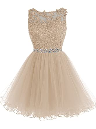MicBridal® Short Tulle Evening Cocktail Ball Gowns Prom Dresses for Teen Girls Big Sale 40