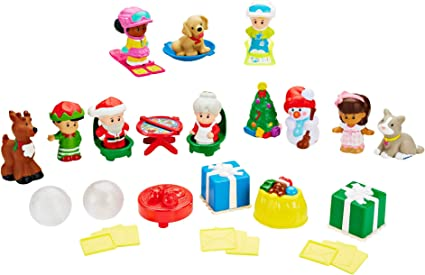 Fisher Price Little People Advent Calendar Christmas Tree present gift star toy