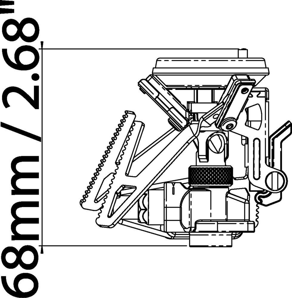 Relags Uni Primus microntrail / One Size /con Encendido piezoel/éctrico y regulaci/ón el/éctrica Plata