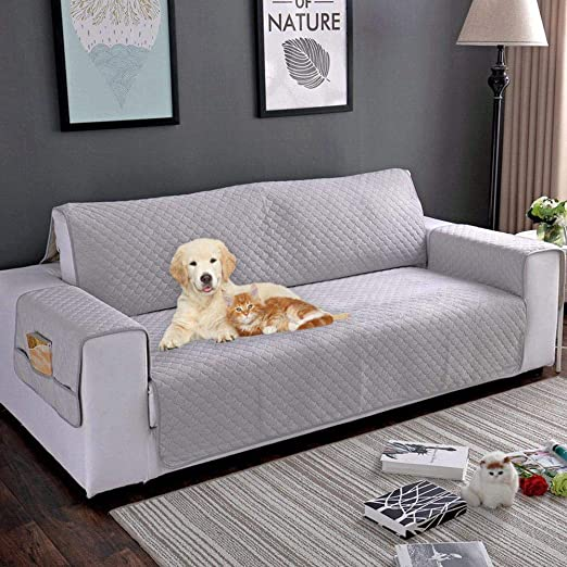 KOBWA Funda de sofá de Felpa Protector de Piel Funda de sofá ...
