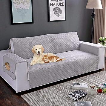 KOBWA Funda de sofá de Felpa Protector de Piel Funda de sofá Lavable a máquina Impermeable