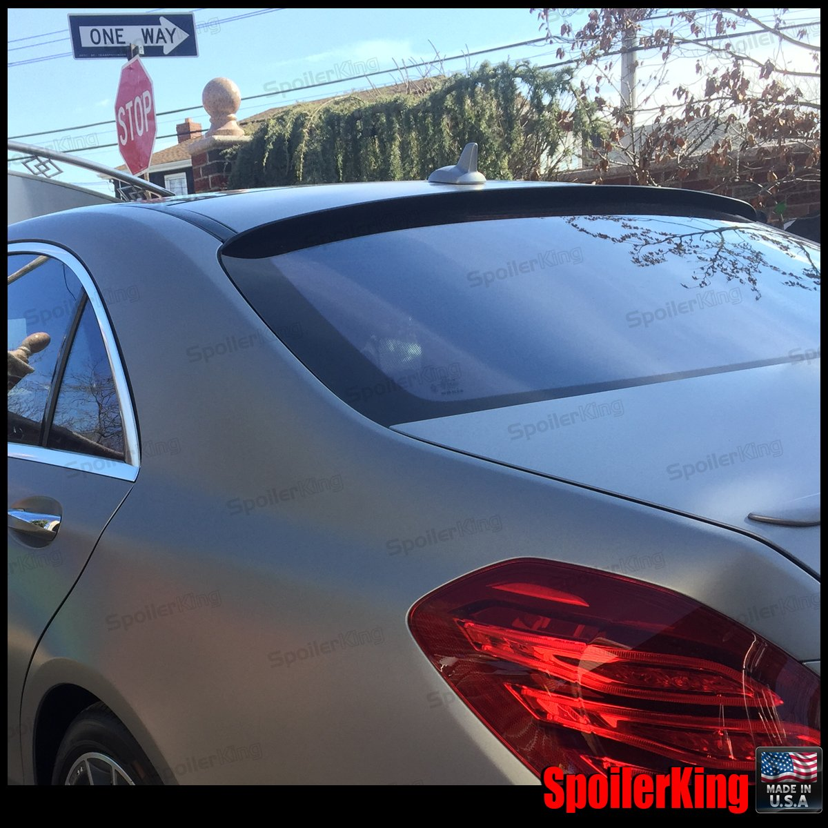 284R Compatible with Mercedes Benz S Class W222 2015-on Spoiler King Roof Spoiler