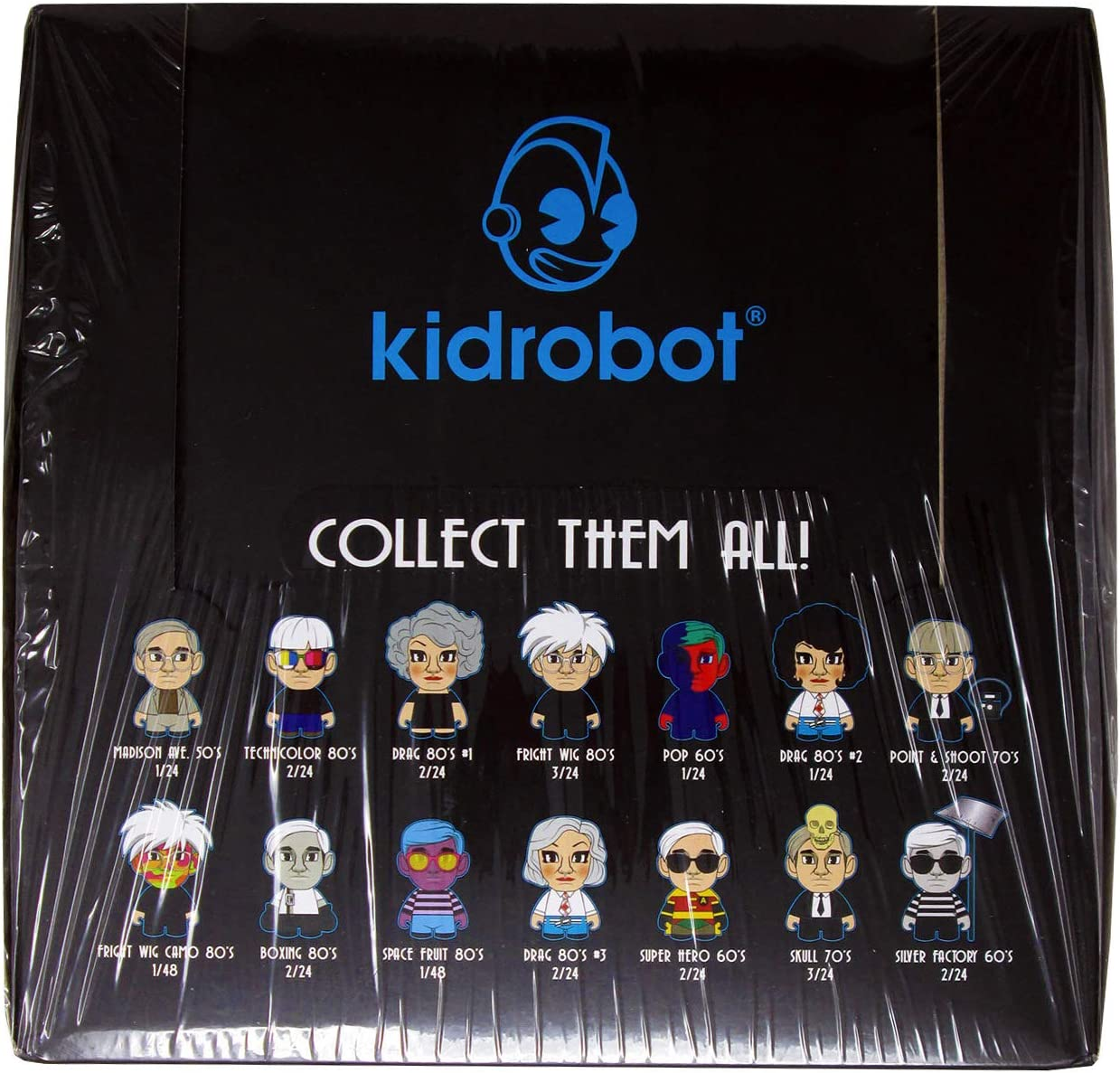 The Many Faces of Andy Warhol Vinyl Mini Kidrobot Fright Wig Camo 80/'s 1//48