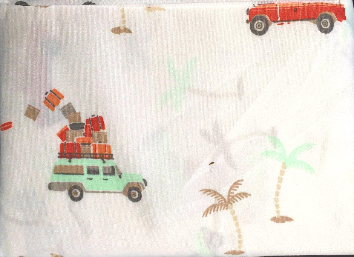 Brushed for More Softness with Fully Elastic Fitted Sheet Desert Traveler Theme Microfiber Sheet Set 100/% Polyester FULL