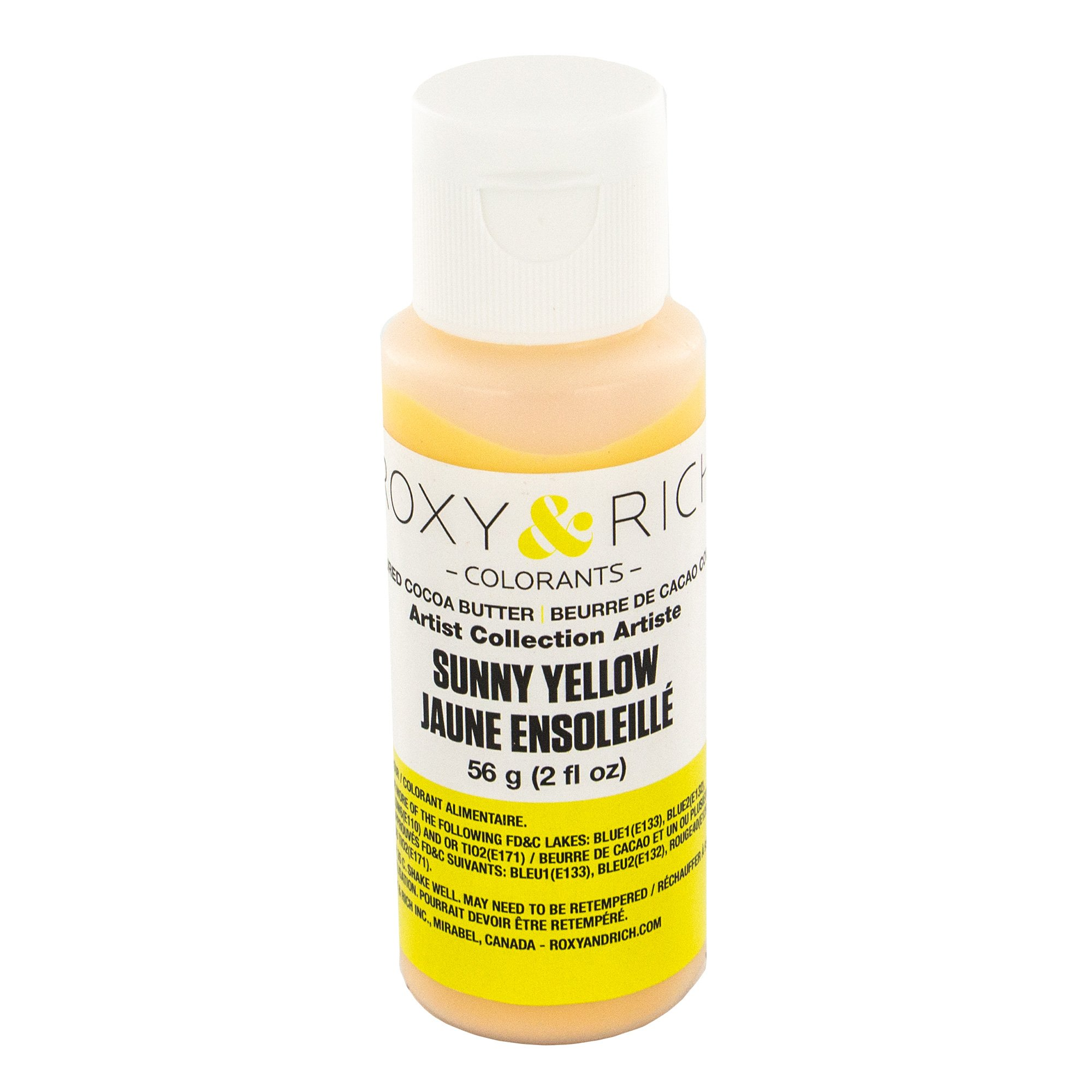 Cocoa Butter, Sunny Yellow 2 Ounces by Roxy & Rich
