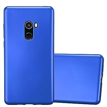 Cadorabo Funda para Xiaomi Mi Mix 2 en Metallic Azul – Cubierta Proteccíon de Silicona TPU Delgada e Flexible con Antichoque – Gel Case Cover Carcasa ...