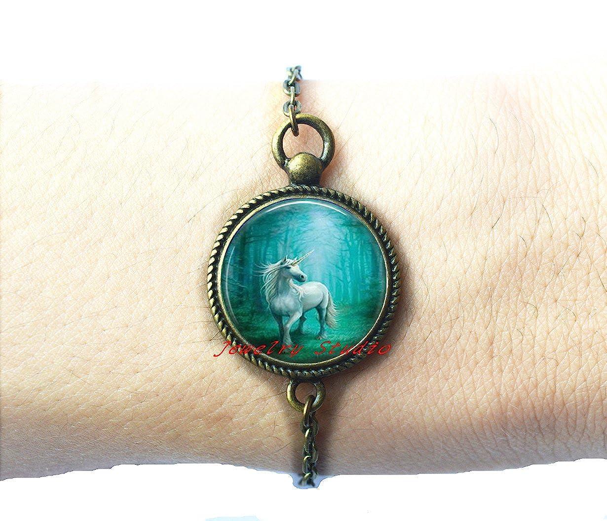 Amazon.com: Encantador moda pulsera, pulsera de unicornio ...