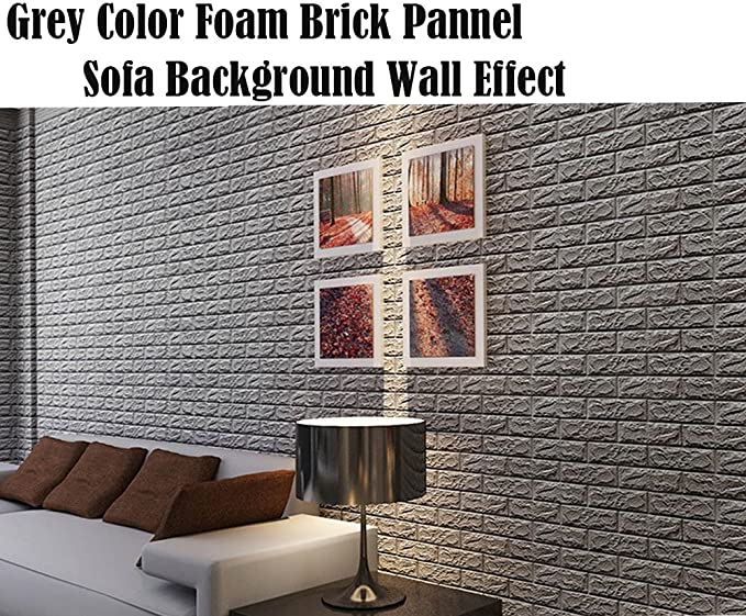 APSOONSELL 10PCS 3D Peel and Stick Wall Panels Self Adhesive Wall Sticker Foam Textured Wallpaper Stone Wall Decor for Living Room Bedroom Kitchen Bathroom
