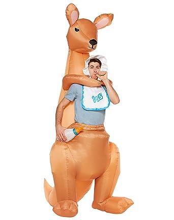 b45fe1235361 Amazon.com  Spirit Halloween Adult Joey Kangaroo Inflatable Costume   Clothing