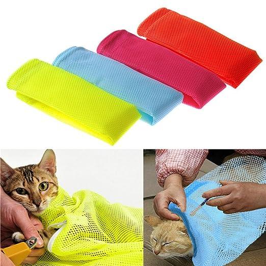 quanjucheer Bolsa de aseo para gatos, bolsa de malla para el baño de mascotas, sin rayar: Amazon.es: Productos para mascotas