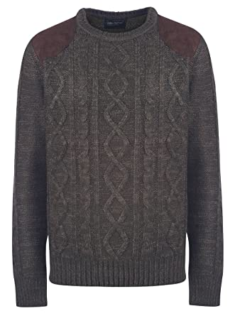 655c771d257254 Mens Crew Neck Cable Country Shooting Jumper
