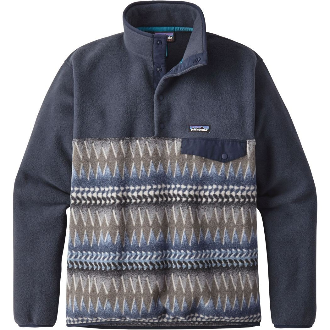 (パタゴニア)patagonia フリース Ms LW シンチラスナップT P/O 25580 [メンズ] B0763SVND9 Small|Laughing Waters/Smolder Blue w/Smolder Blue(LSBS) Laughing Waters/Smolder Blue w/Smolder Blue(LSBS) Small