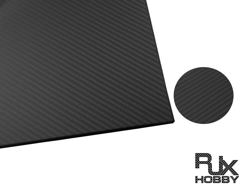 Rjx 3 kフルカーボン繊維板シート600 × 500 × 0.5-10ミリメートル厚さ(ツイル、マット表面) (600x500x0.5mm) B078XRDPG2   600x500x0.5mm