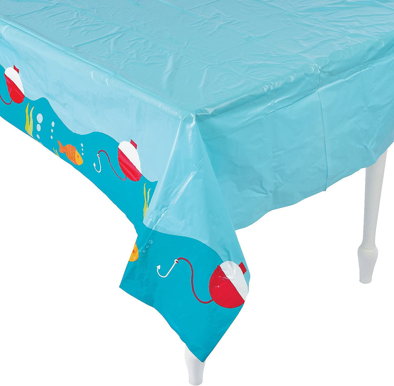 Little Fisherman Table Cloth Cover (9 feet long) Fishing Party Supplies