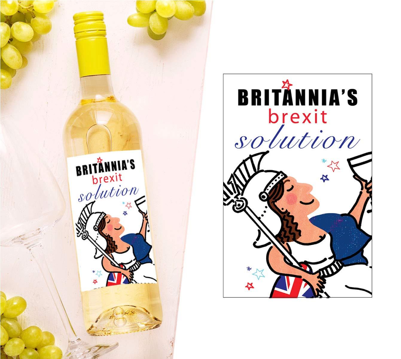 Brexit Wine Bottle Label Britannias Brexit Solution Funny Gift Present