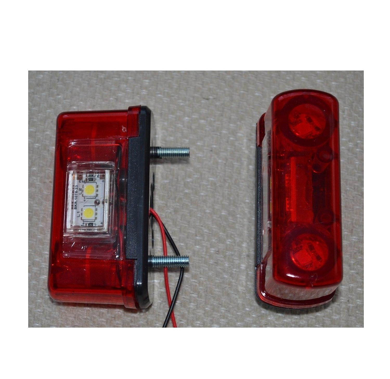 2 X 12V 24V LED PLAQUE DIMMATRICULATION FEU ARRIERE ECLAIRAGE CAMION REMORQUE