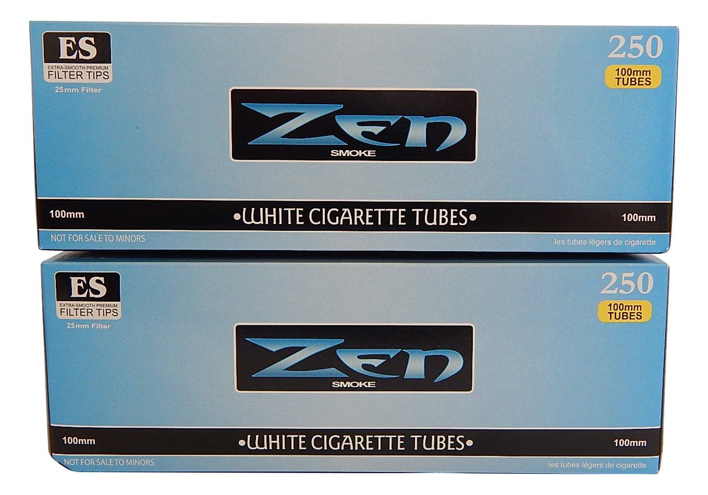 Zen Light 100's Cigarette Tubes -2 Pack, 250 ct per box by ZEN SMOKE