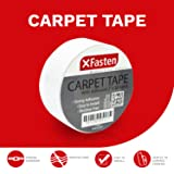 XFasten Double Sided Tape Carpet Tape, Removable, 2 Inches x 20 Yards