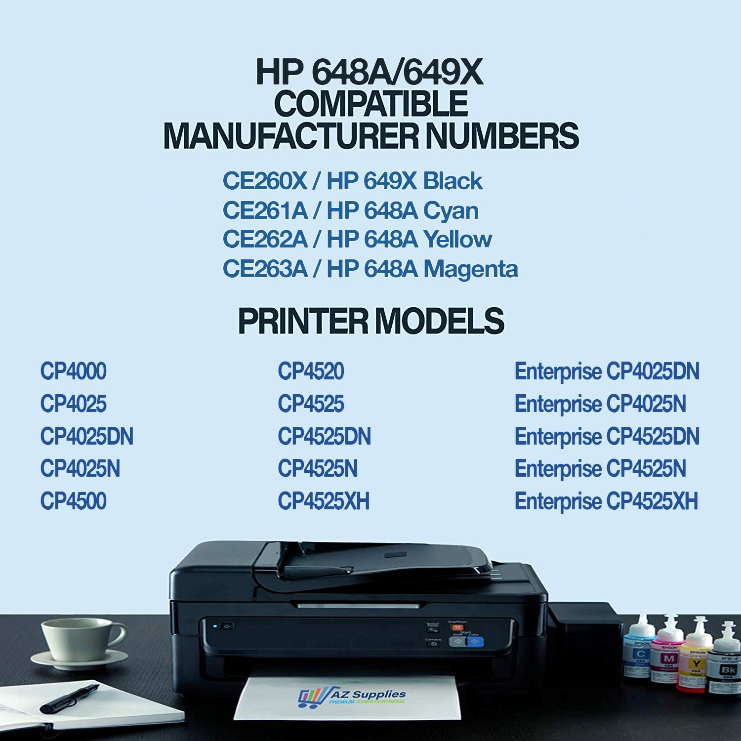 1PK CE261A Cyan Toner Cartridge For HP 647A Color LaserJet CP4525n CP4025 CP4520