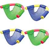 (Set/4) Swimways Floating Pool Noodle Sling Mesh Chairs - Water Relaxation