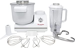 Complete Bread Dough Mixer Machine with Dough Hook - Bread Kneader and Dough Maker - Dough Kneading Machine - Upgraded Wondermix Revolution Kitchen Mixer by Wondermill