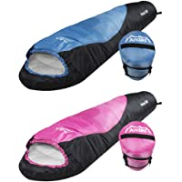 Andes Pichu 300 2-3 Season Childrens/Kids Camping Sleeping Bag, 300GSM Filling - Compression Carry Bag Included, Ideal For Camping, Cubs, Scouts, Guides