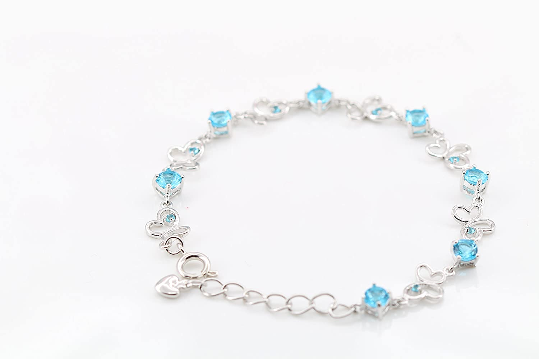 Rose//Multicolore Papillon Bracelet .pour Femmes Filles. findout Dames am/éthyste /él/ément dargent//Bleu f1138