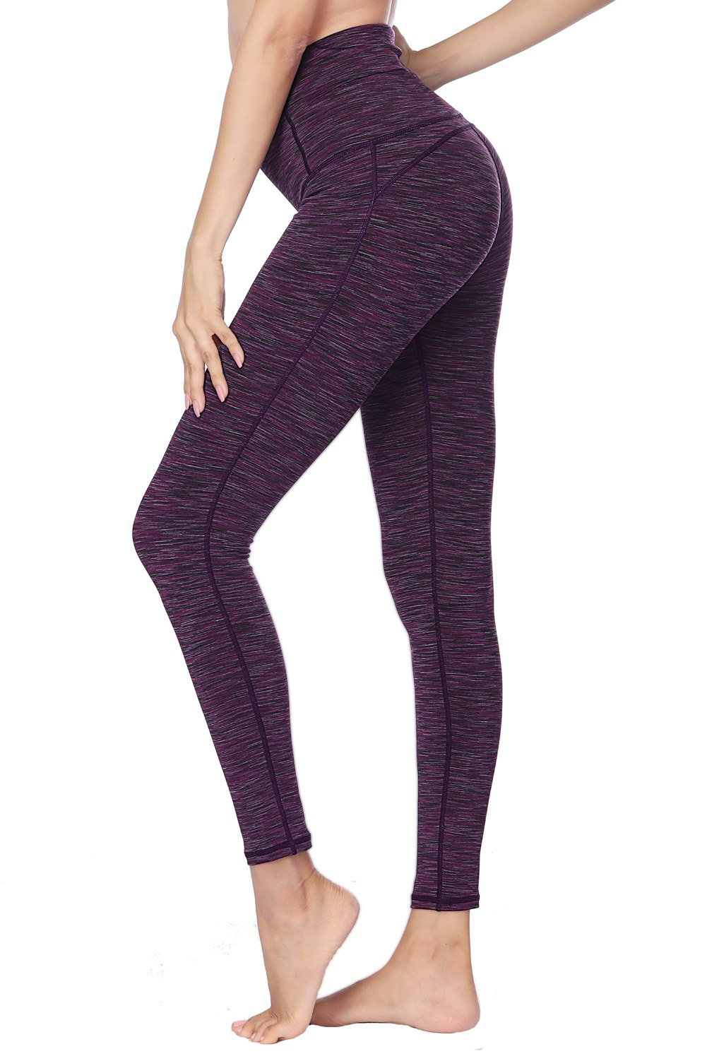 Dragon Fit Compression Yoga Pants Power Stretch Workout Leggings with High Waist Tummy Control (Medium, Ankle-Purple)