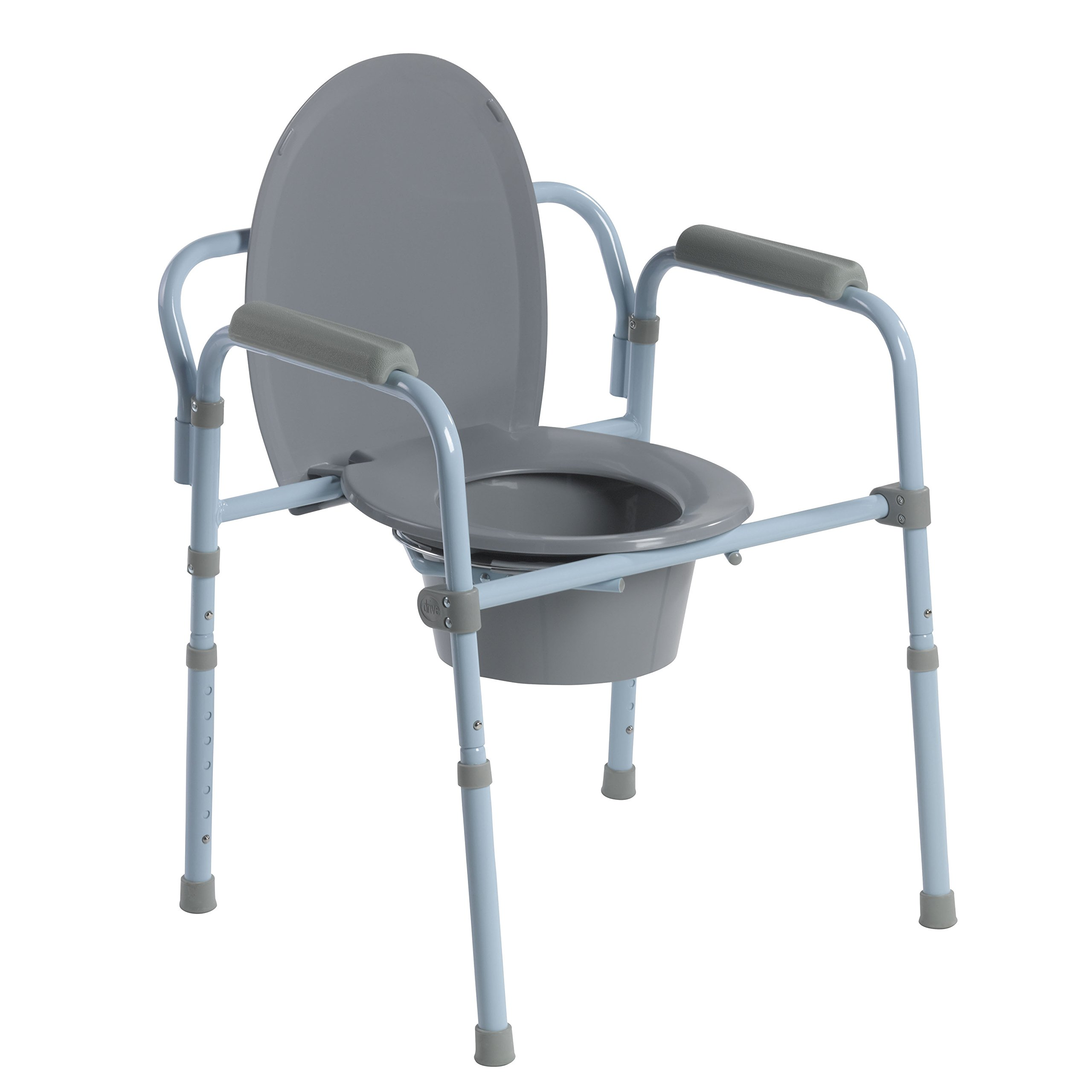 Drive Medical Steel Folding Frame Commode by Drive Medical
