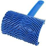 Sourcingmap® en caoutchouc Bois Grain Motif peinture murale Décoration DIY Outil Bleu