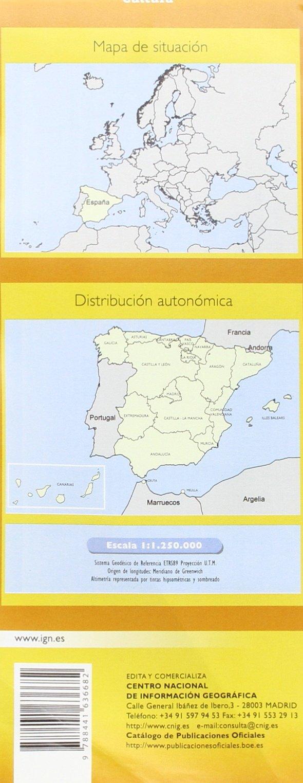 Caminos de Santiago en la Península Ibérica. Esacala 1:1.250.000.Mapa plegado. IGN/CNIG.: Amazon.es: VV.AA.: Libros