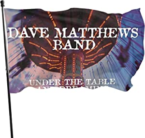 EUKhan Music Dave Matthews The Table and Dreaming 3x5 Ft Rock, Jazz, Rap and Metal Music Flag, Suitable for Balcony Garden and Outdoor Banners Flag, Uv Fade Resistant Flag