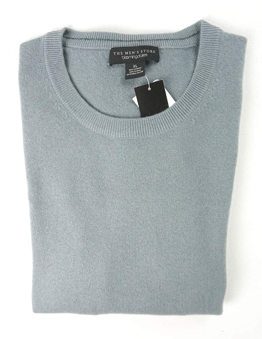 Bloomingdales New $198 Slate Gray 2 PLY 100/% Cashmere Crewneck Sweater Size 2XL