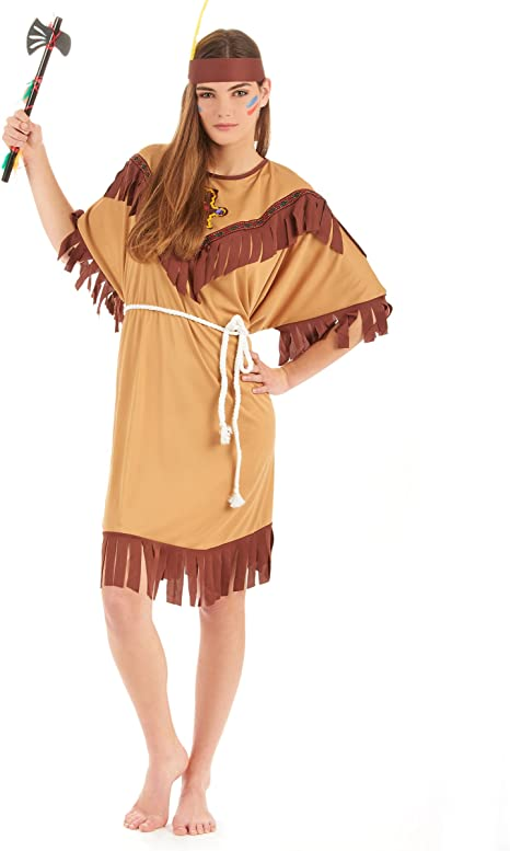 Desconocido Disfraz de india para mujer: Amazon.es: Juguetes y juegos