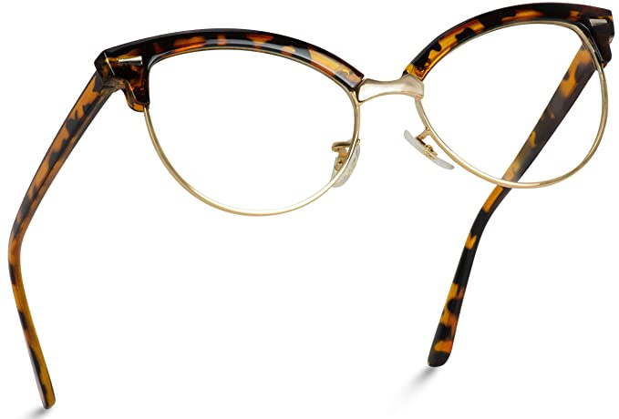 1940s Sunglasses, Glasses & Eyeglasses History WearMe Pro - New Vintage Retro Semi-Rimless Cat Eye Glasses for Women $11.99 AT vintagedancer.com