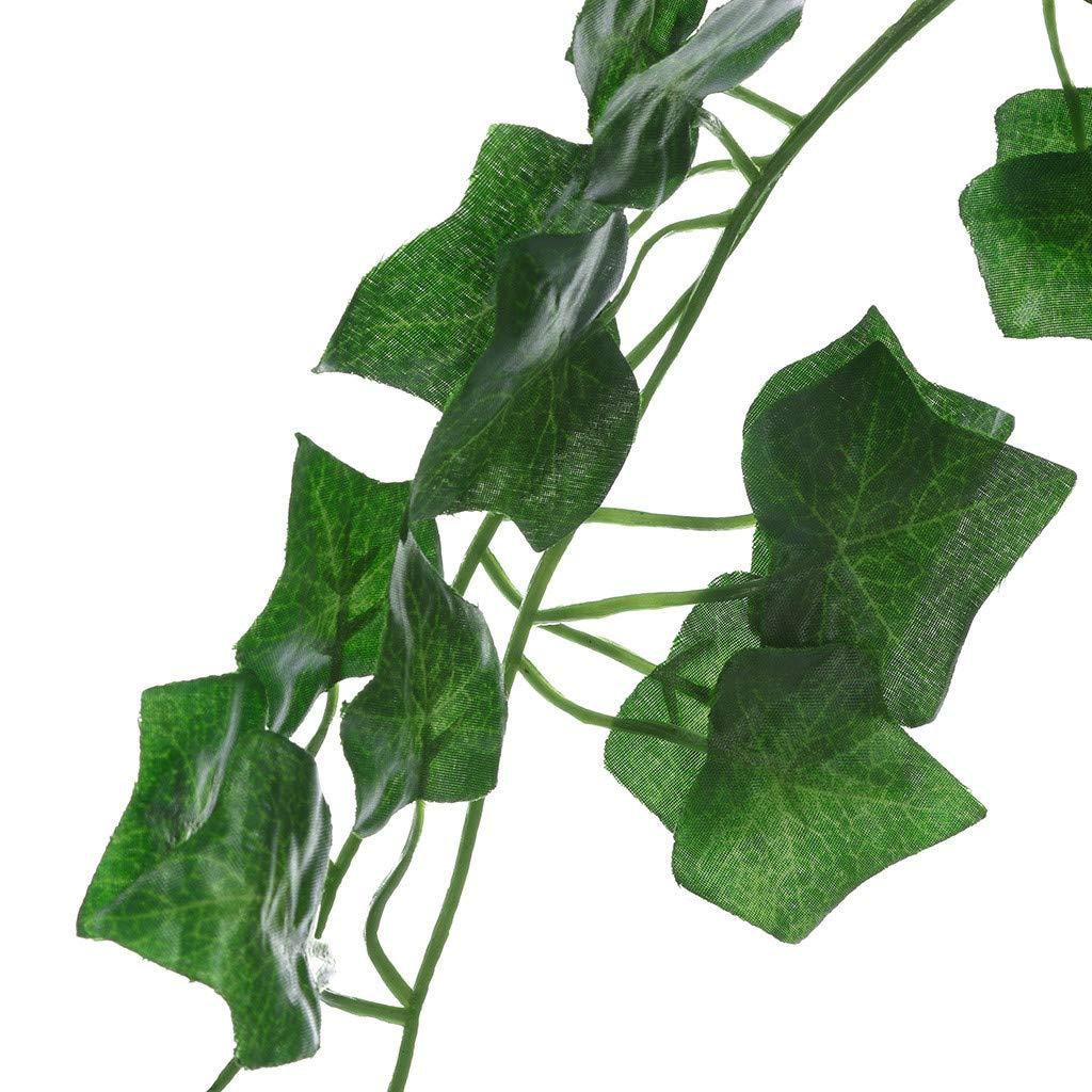 240cm Artificial Hiedra Hoja Garland Plantas Plástico Largo Follaje Verde Vid falso