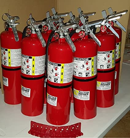 Pack Of (10) Business Fire Extinguisher, 10 LB. ABC Fire ...