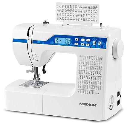 Medion MD 15694 - Máquina de coser digital, consumo de energía de 30 vatios,