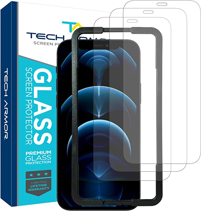 Tech Armor Ballistic Glass Screen Protector for Apple NEW iPhone 12 Pro Max (6.7