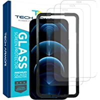 """Tech Armor Ballistic Glass Screen Protector for Apple New iPhone 12 Pro Max (6.7"""") - Case-Friendly Tempered Glass…"""