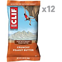 CLIF CLIF BAR Crunchy Peanut Butter (Box of 12), 12 x 68 g