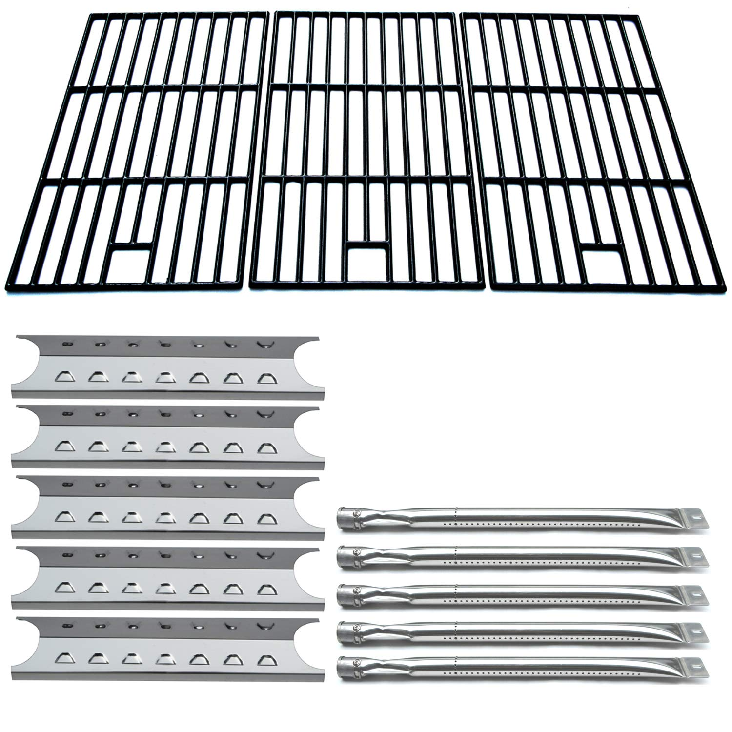 Direct store Parts Kit DG195 Replacement Master Forge 5 Burner Gas Grill L3218, 3218LTN Grill Repair Kit Burner,Heat Plate ,Cooking Grid
