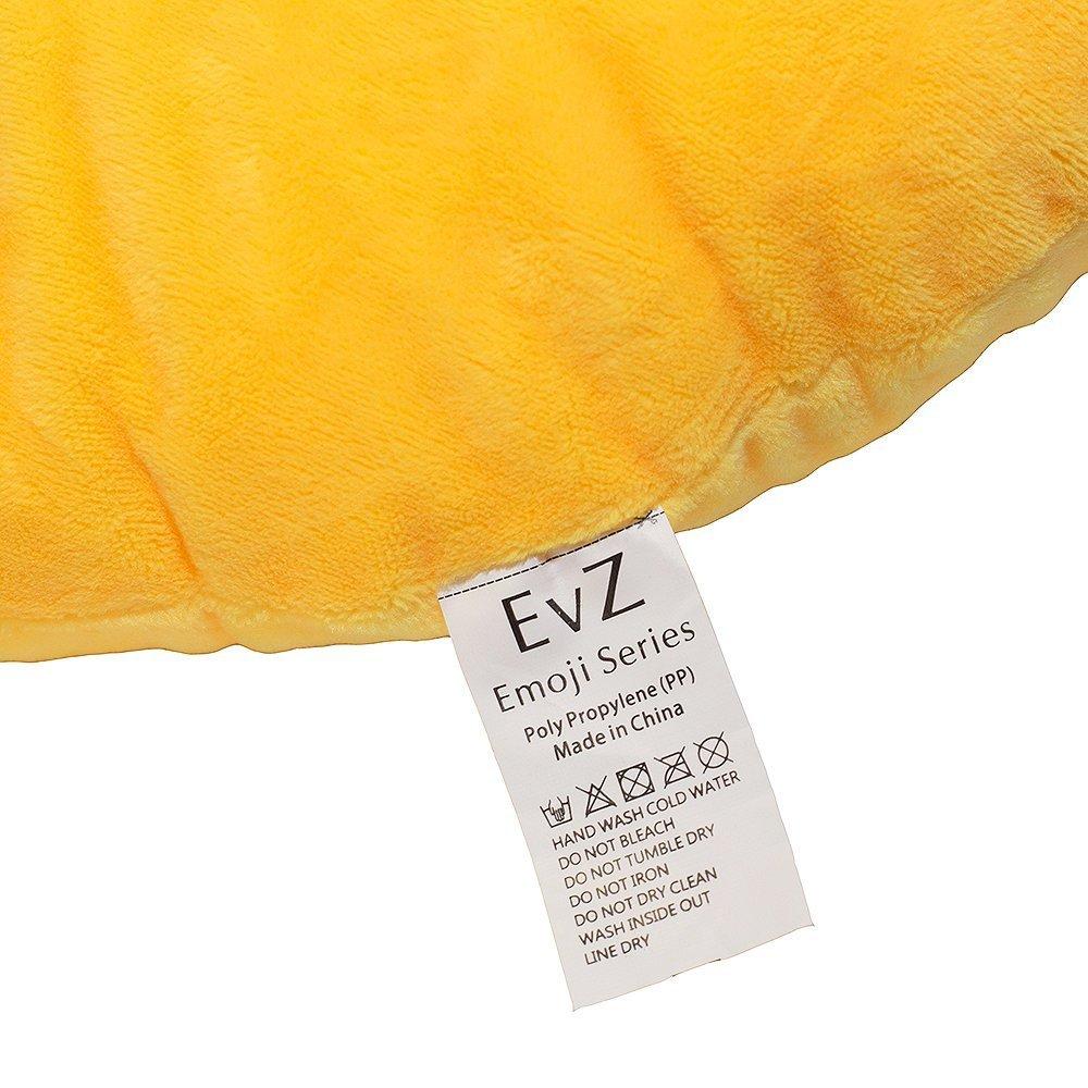 EvZ 32cm Emoji Smiley Emoticon Yellow Round Cushion Stuffed Plush Soft Pillow COMINHKPR66644