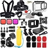 Kupton Accessories Kit Bundle for GoPro Hero 8 Black, Waterproof Housing + Sleeve Case + Filters + Head Chest Strap + Suction Cup Mount + Bike Mount + Floating Grip Accessory Set for GoPro Hero8