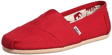 reputable site 9d8a2 33162 Toms Classic Rot Damen Canvas Schuhe: Amazon.de: Schuhe ...