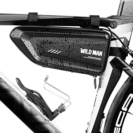 NUUNO Bolsa de Bicicleta Impermeable, Bolsa Triangular para Cuadro para Bici Ajustable 1.5L Grande Bolsa Marco Bicicleta para MTB Bicicleta Carretera, ...
