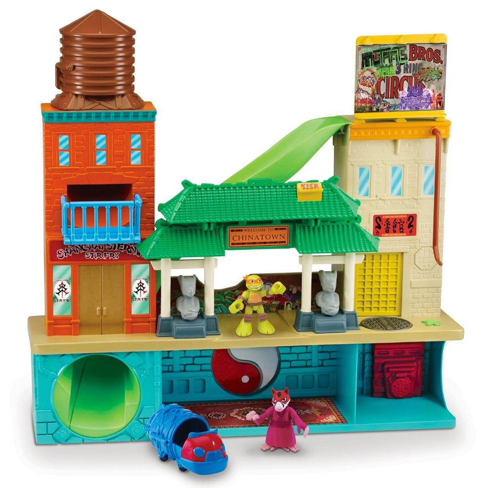 Turtles Half-Shell Heroes Super Sewer Head Quarters with Mikey and Splinter Flair 96901