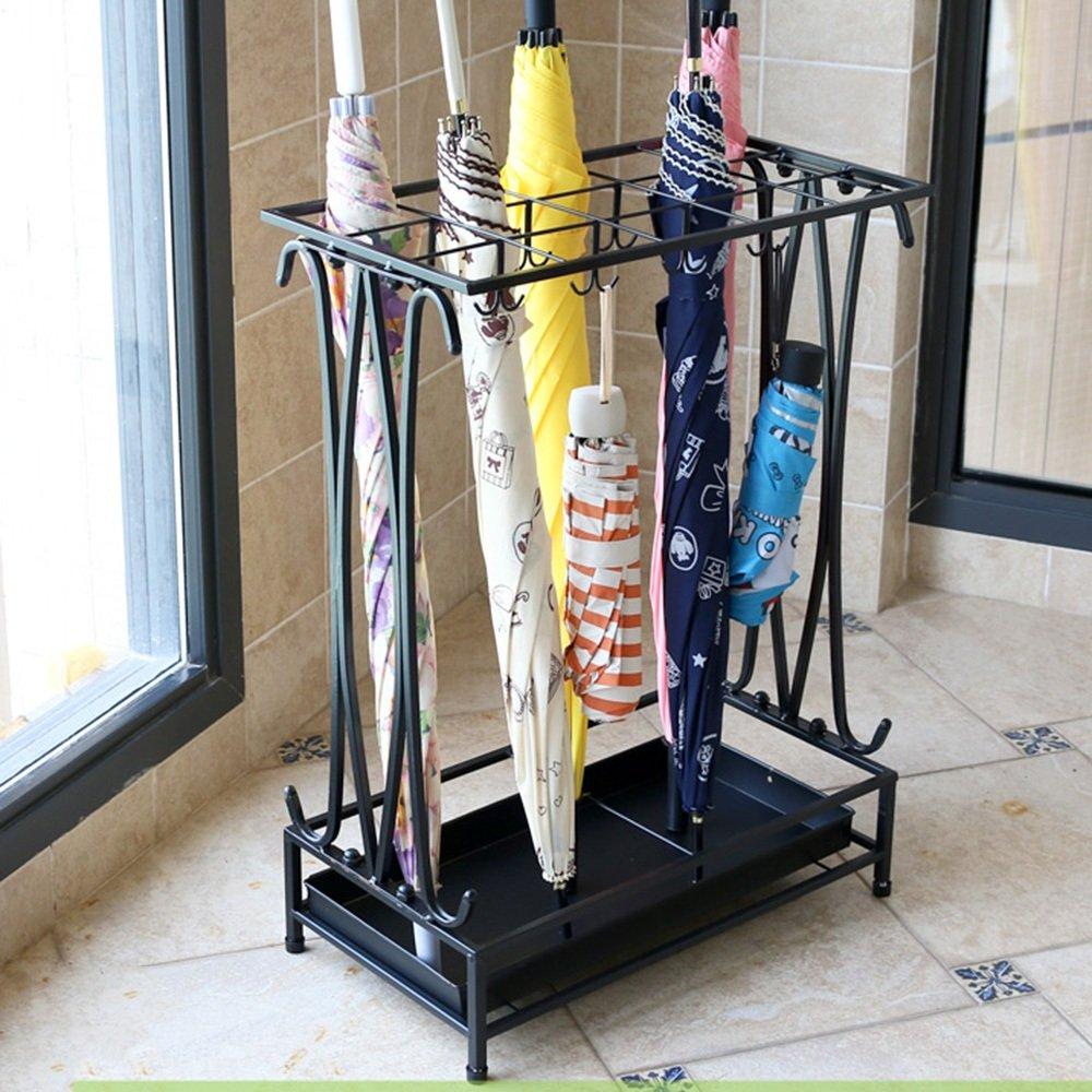 B 442460CM-2  QFFL yusanjia Iron Art Multi-Standard Large Capacity Umbrella Stand Hotel Lobby Household Creative Floor-Standing Rain Gear Practical Anti-Corrosion Umbrella Storage Shelves (3 colors 5 Sizes Opt
