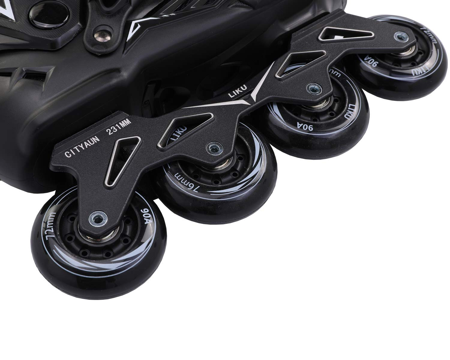 LIKU Fitness Professional Inline Roller Skates Women Men Adult Youth Black (Men 6.5,Women 7.5) by LIKU (Image #8)