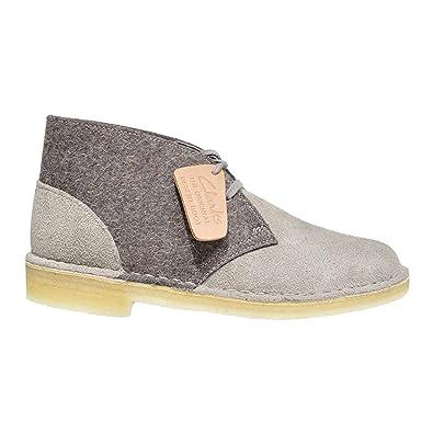 52422cb4ad6c CLARKS Originals Desert Boot Women s Suede Felt Chukka Shoe (5M) Grey